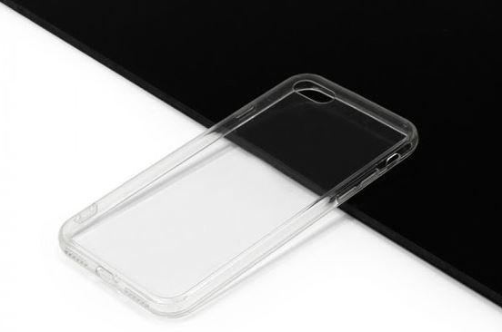 Jednoduchý, průhledný, silikonový kryt na iPhone 8 zachová jeho eleganci a ochrání jeho skleněná záda před rozbitím. Zdroj: Etuo.cz